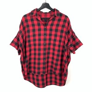 Madewell Courier Flannel Buffalo Plaid Large Short